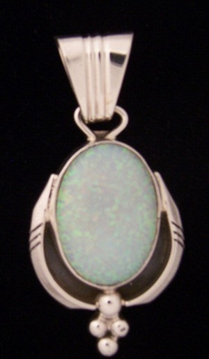 PEN17 Navajo Handmade Opal Pendant