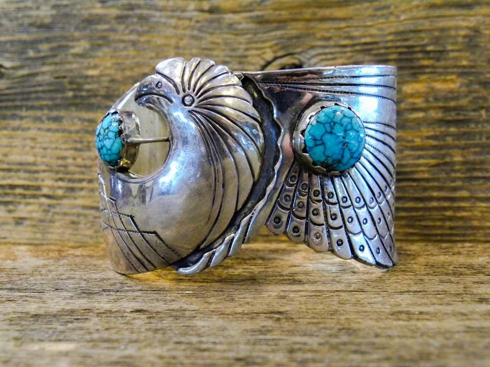 PB11- Pawn Navajo Eagle Design Bracelet