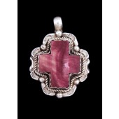 AP4 Monroe & Lillie Ashley Purple Spiny Oyster Shell Cross Pendant