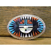 BB10 Zuni Sunface Belt Buckle