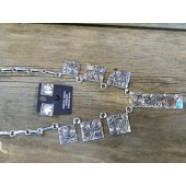 ASN3 Navajo Artist Alex Sanchez Necklace with Earrings Set
