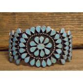PB23 Pawn Inlay Sleeping Beauty Turquoise Bracelet