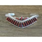 PB1 Pawn Navajo Handmade Coral Drop Bracelet