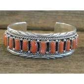 PB6 Pawn Navajo Handmade Coral Bracelet
