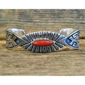 PB8 Pawn Navajo Handmade Coral Bracelet