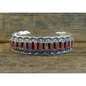 PB47 Pawn Navajo Handmade Coral Bracelet
