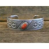 PB49 Pawn Navajo Handmade Coral Bracelet