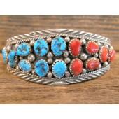 PB54 Pawn Turquoise & Coral Bracelet