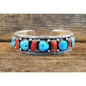 PB56 Pawn Turquoise & Coral Bracelet