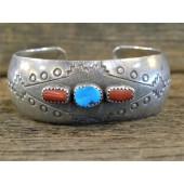 PB61 Pawn Turquoise & Coral Bracelet