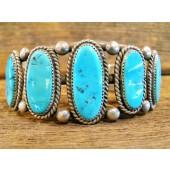 PB70 Pawn Navajo Handmade Turquoise Bracelet