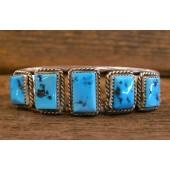 PB75 Pawn Square Turquoise Stone Bracelet