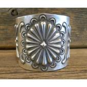 PB78 Pawn Navajo Wide Silver Bracelet