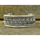 PB87 Pawn Sterling Silver Navajo Handmade Bracelet