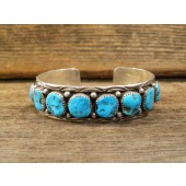 PB96 Pawn Navajo Sleeping Beauty Turquoise Bracelet