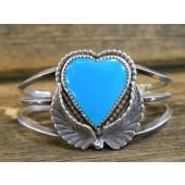 PB98 Pawn Navajo Turquoise Heart Bracelet