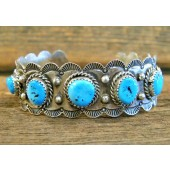 PB102 Pawn Sleeping Beauty Turquoise Bracelet