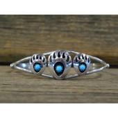 B10- Navajo Bear Paw Bracelet