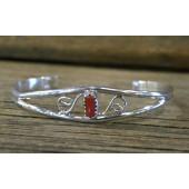 B13- Navajo Handmade Coral Bracelet