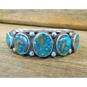 B24- Navajo Handmade Turquoise Bracelet
