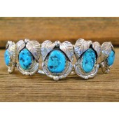 MLAB5 Monroe & Lillie Ashley 5 stone Sleeping Beauty Turquoise Bracelet