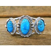 MLAB17 Monroe & Lillie Ashley Kingman Turquoise Bracelet