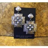 ER1 All Silver Post Dangle Earring
