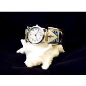 WTZ1 Zuni Multi Stone Inlay Watch Band