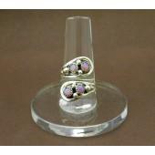 R16- Adjustable Navajo Pink Opal Ring