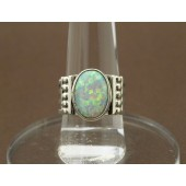 R2- Sterling Navajo Opal Ring
