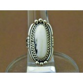 R3- Navajo White Buffalo Ring
