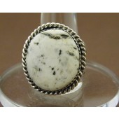 R4- Navajo White Buffalo Ring