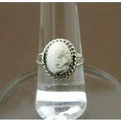 R5- Navajo Handmade White Buffalo Ring