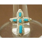 R6- Zuni Turquoise Cross Ring