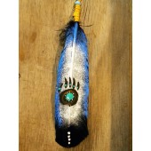 FF11- Navajo Bear Claw Painted Friendship Feather
