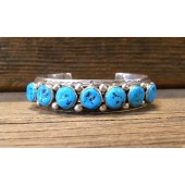 PB1- Navajo Pawn Bracelet with Sleeping Beauty Turquoise