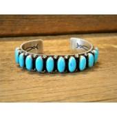 PB8- Navajo Pawn Bracelet with Kingman Turquoise