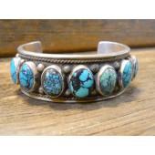 PB13- Pawn Navajo Handmade Turquoise Bracelet