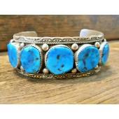 PB14- Pawn Sleeping Beauty Turquoise Bracelet