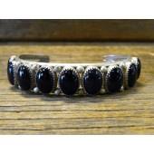 PB26- Pawn Onyx Navajo Bracelet