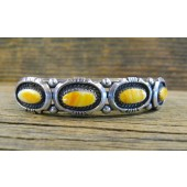 PB32- Pawn Navajo Orange Spiny Oyster Bracelet