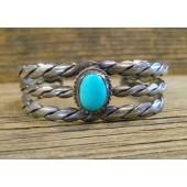 PB45- Pawn Navajo Turquoise Bracelet