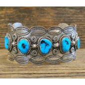 PB48- Pawn Sleeping Beauty Turquoise Bracelet