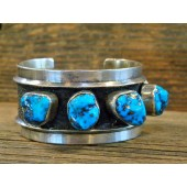 PB56- Pawn Navajo Sleeping Beauty Turquoise Bracelet