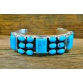 PB60- Pawn Navajo Turquoise Bracelet
