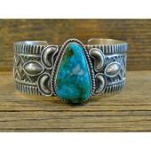 PB61-  Pawn Navajo Turquoise Bracelet