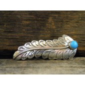 HC5 Sterling Navajo Handmade Hair Clip with Turquoise