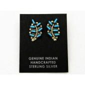 ER11- Zuni Turquoise Earrings