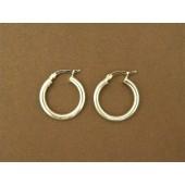 ER12- Sterling Silver Hoop Earrings
