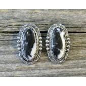 ERN2 Monroe & Lillie Ashley White Buffalo Earrings